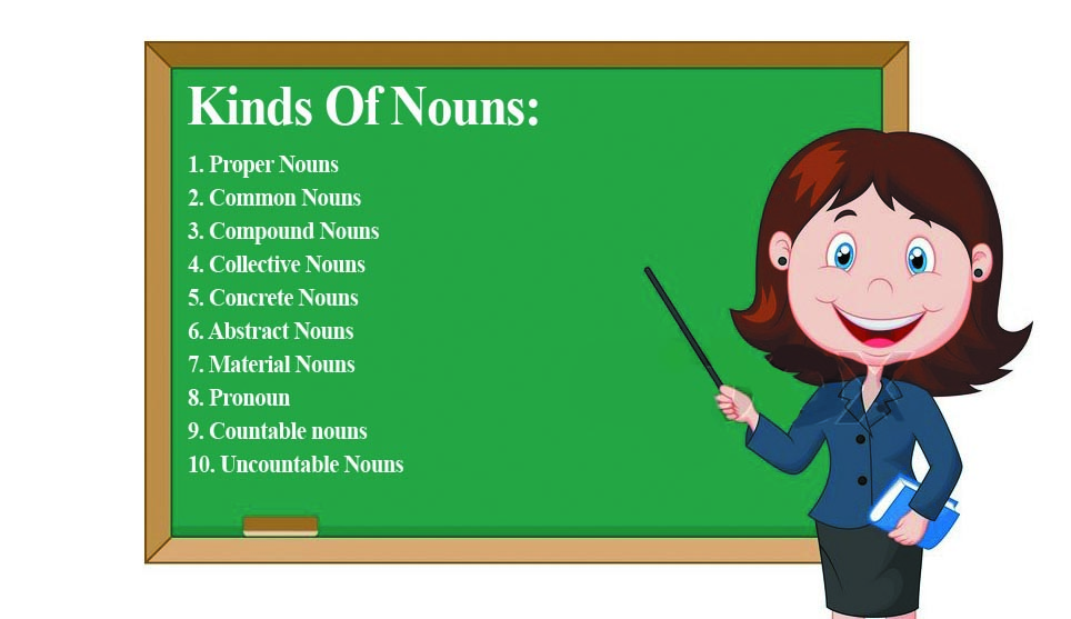 10 Kinds Of Nouns With Definition And Examples Nouns