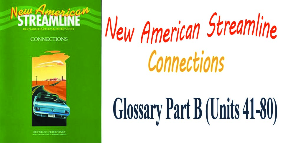 New American Streamline Connections Glossary