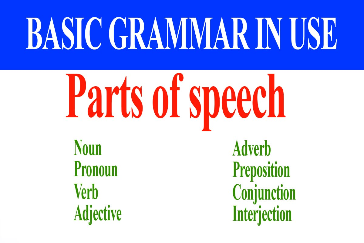 The 8 Parts of Speech in English - Parts of speech with