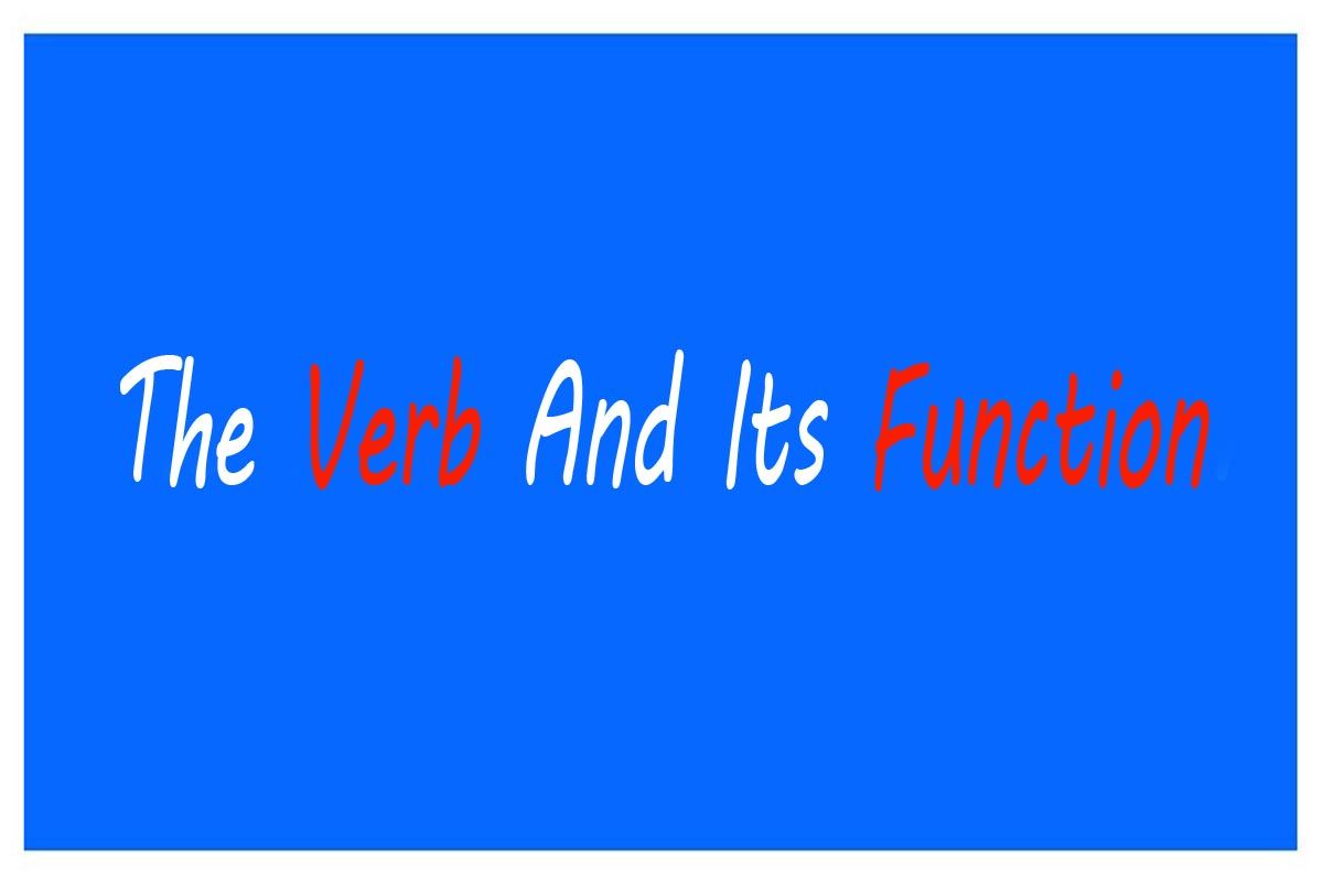 Function of a Verb in a Sentence