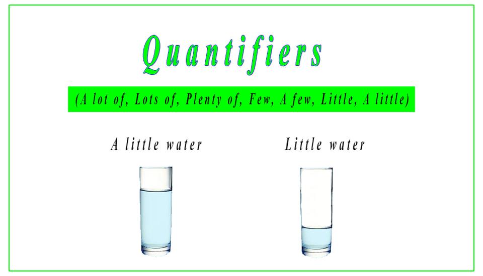 quantifiers  a lot of  lots of  plenty of