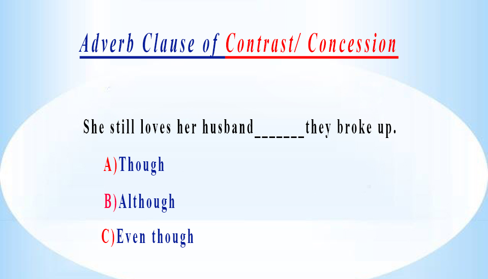 write a complex sentence with an adverb clause