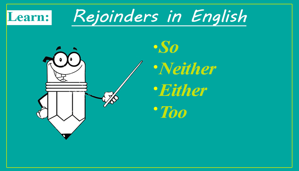 Rejoinders in English