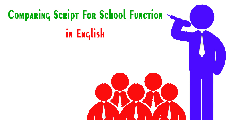Comparing script for school function | Best lines for ...