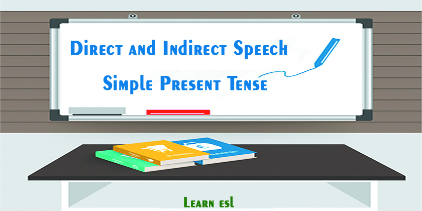 Direct and Indirect Speech of Simple Present Tense