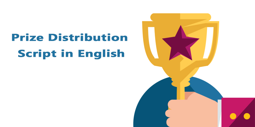 Prize Distribution Script in English | Prize distribution