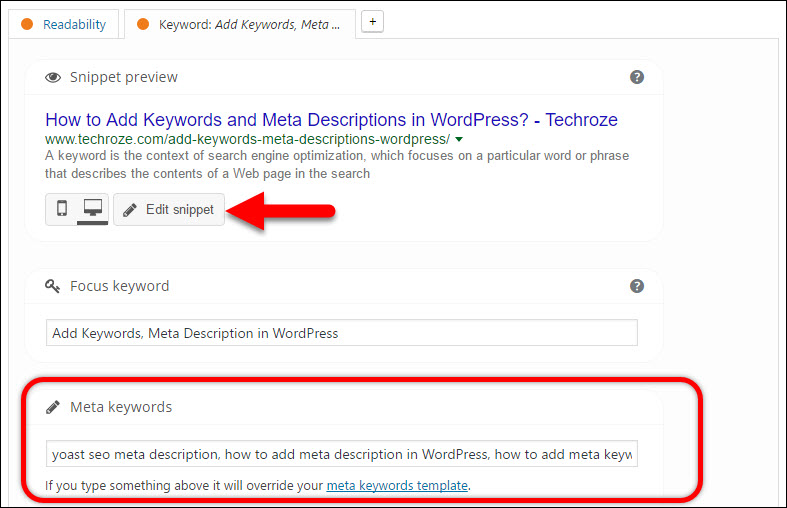 meta key words how to find