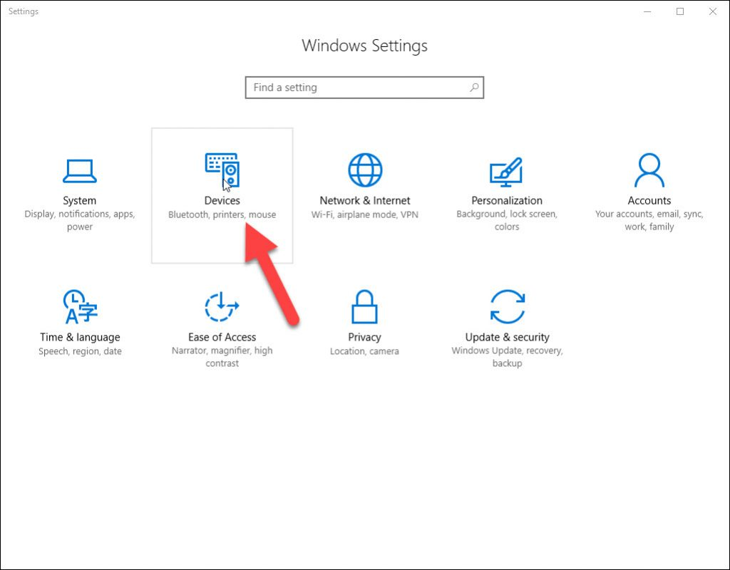 Windows Settings and Devices