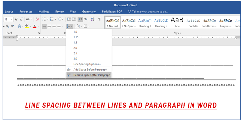 how to change word spacing in word