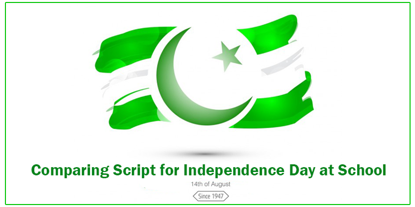 Comparing Script for Independence Day at School - Anchoring
