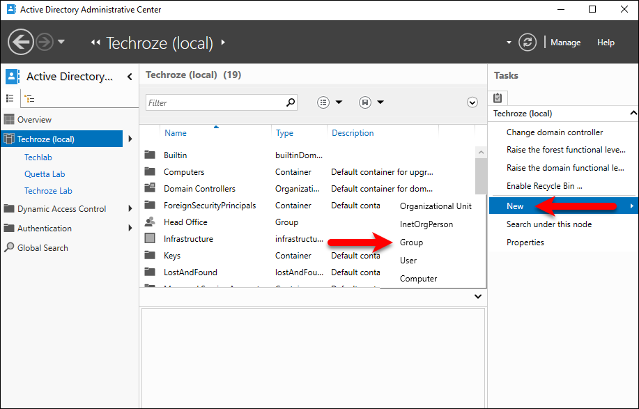 3 Ways to Create Active Directory Groups On Server 2016