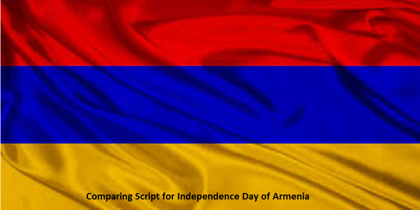 Comparing Script for Independence Day of Armenia