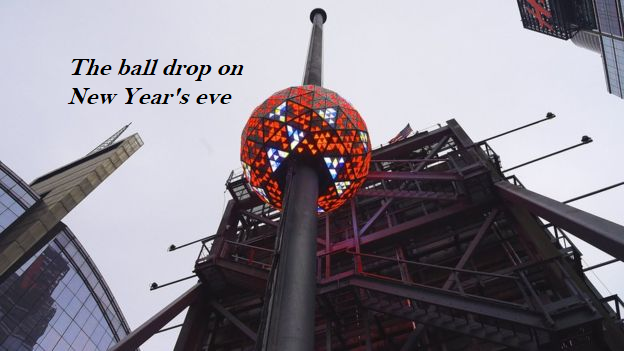 The ball drop in New York
