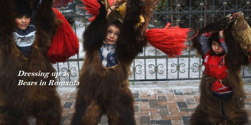 Dressing up as bears in Romania