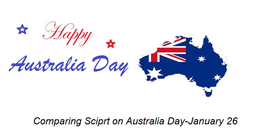 Comparing Script on Australia Day–January 26
