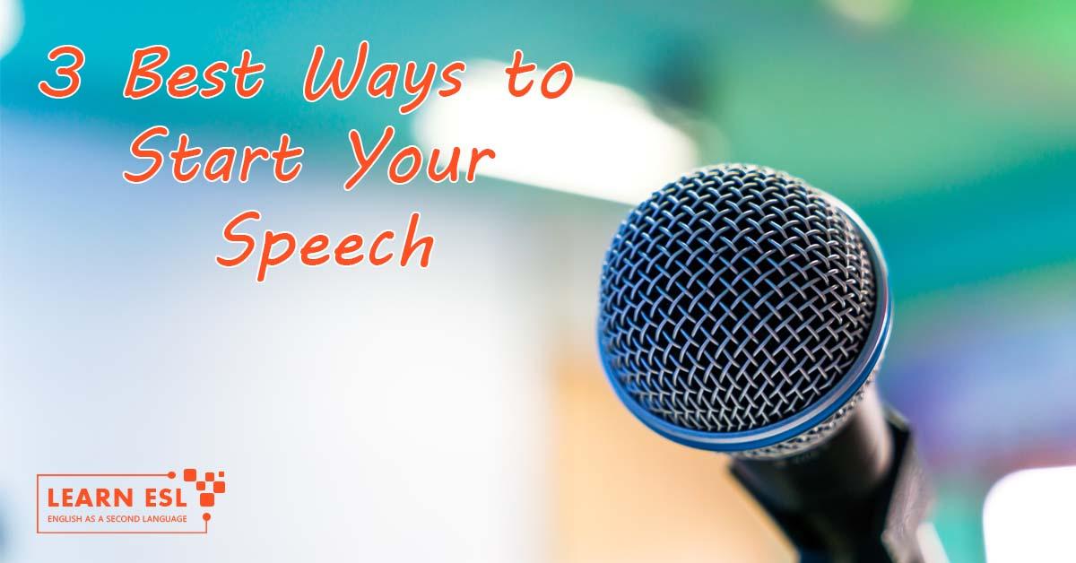 Best Starting Lines for Speech or Presentation