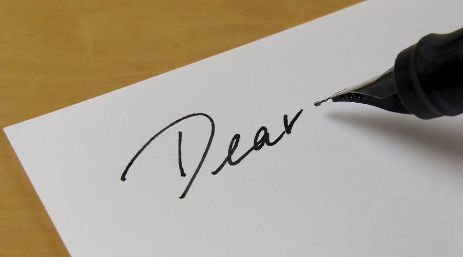 Writing the best letter in English from scratch